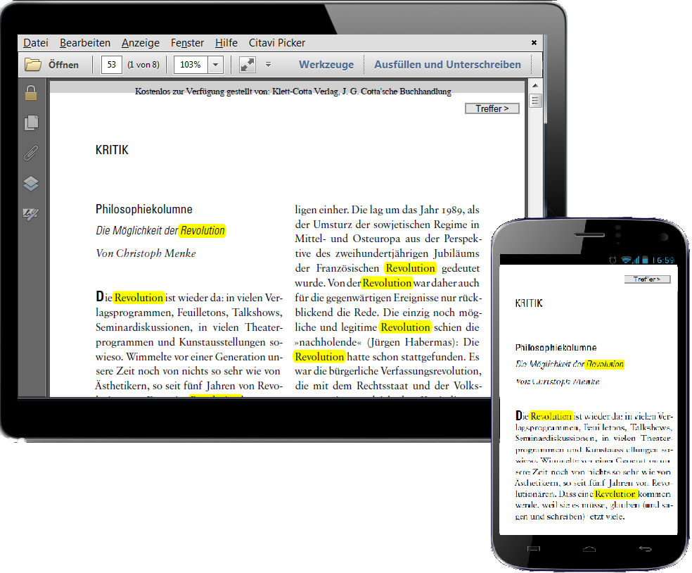 smartphone tablet pdf highlighter